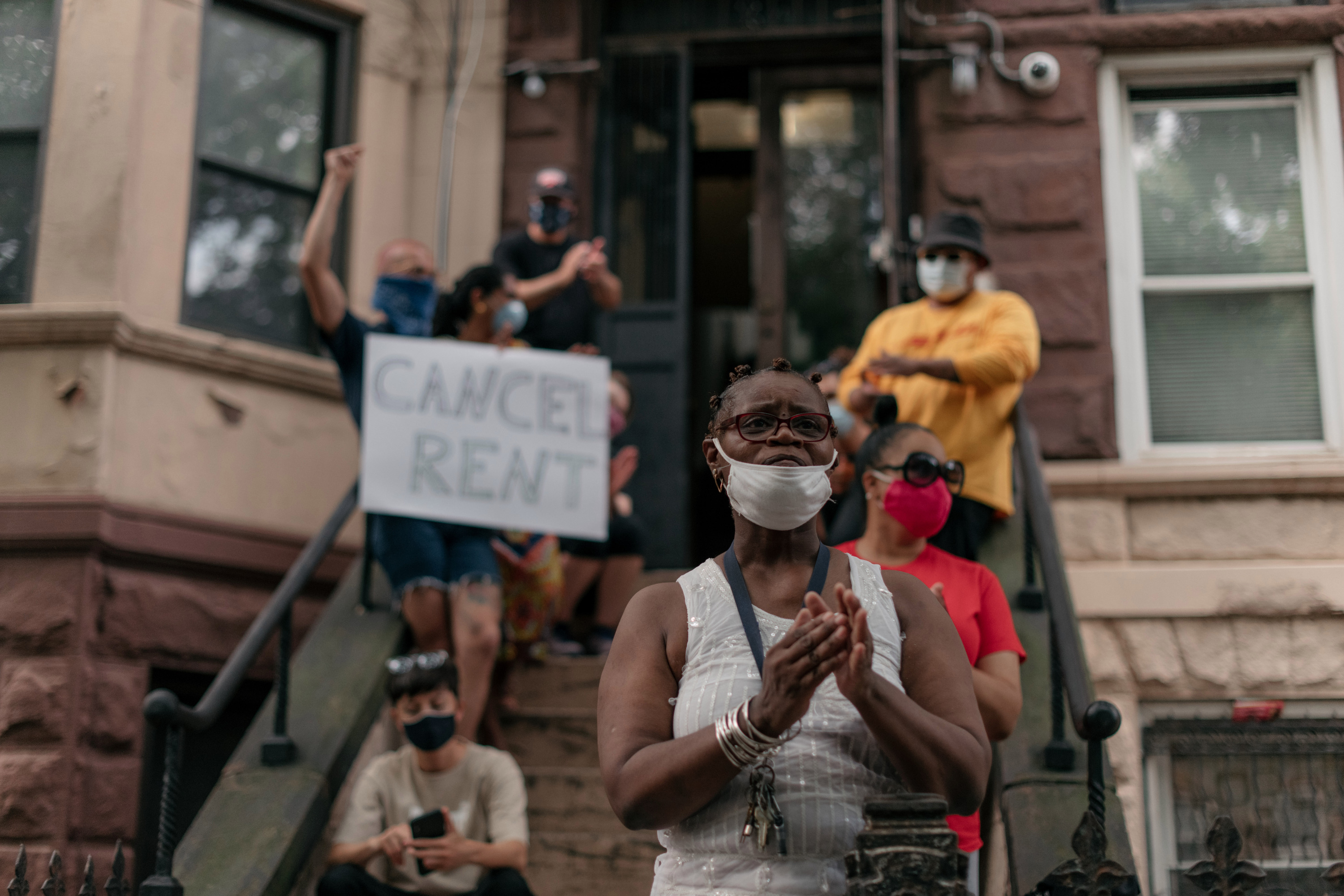 Activists gather in Brooklyn to cancel rent.